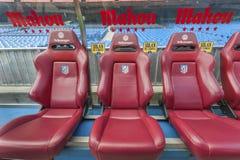 At Vicente Calderon Stadium Stock Photo