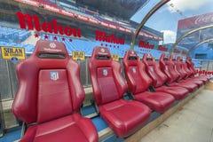 At Vicente Calderon Stadium Royalty Free Stock Photography