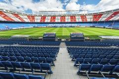 At Vicente Calderon Stadium Stock Photography