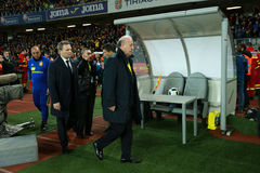 Vicente del Bosque, allenatore della squadra di football americano nazionale di Spagna Fotografia Stock Libera da Diritti