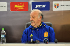 Vicente del Bosque during a press conference berfore Romania - S Stock Images