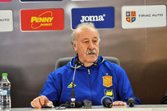 Vicente del Bosque during a press conference berfore Romania - S Royalty Free Stock Photo