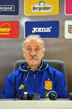 Vicente del Bosque during a press conference berfore Romania - S Stock Image