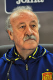 Vicente del Bosque during a press conference berfore Romania - S Royalty Free Stock Photography