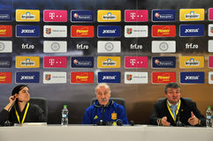 Vicente del Bosque during a press conference berfore Romania - S Stock Photography