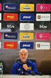 Vicente del Bosque during a press conference berfore Romania - S Stock Photos