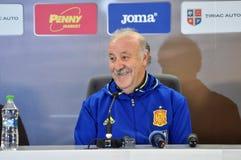 Vicente del Bosque during a press conference berfore Romania - S Stock Image