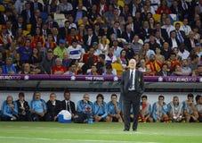 Vicente del Bosque, primo allenatore della squadra di football americano del cittadino della Spagna Immagini Stock