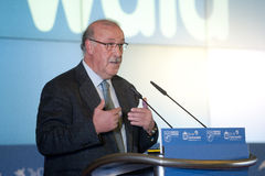 Vicente Del Bosque spanish trainer Stock Photo