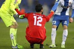 Vicente Iborra de Sevilla FC Imagen de archivo libre de regalías
