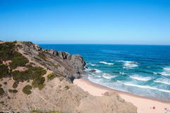 Vicentinas kust i Algarve Portugal Royaltyfri Fotografi