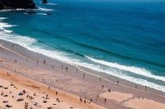 Vicentinas kuststrand i Algarve Portugal Arkivfoto