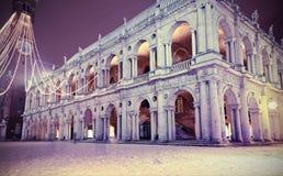 Vicenza City i Italien byggnad kallade Basilika Palladiana headq Royaltyfri Fotografi