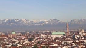 Vicenza city, Veneto Region, Italy.Panorama landscape stock footage