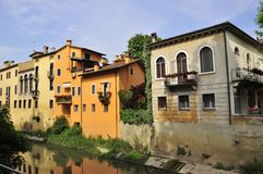 Vicenza houses and canals Royalty Free Stock Photos