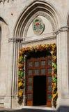 Vicenza, Itália 21 de maio de 2016 porta da rua da catedral Imagem de Stock Royalty Free
