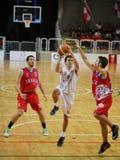 Vicenza, Italië 04 Oktober, 2015 Basketbalgelijke tussen Vi Stock Fotografie