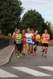 Vicenza, Italië, 20 September 2015 De agenten van de marathon Stock Afbeelding