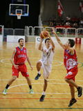 Vicenza, Italia 4 ottobre 2015 Partita di pallacanestro fra Vi Fotografia Stock