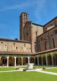 Vicenza, Italy - April 22, 2018: Cloister and the curch of the c Royalty Free Stock Images
