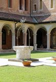 Vicenza, Italy - April 22, 2018: white well of the convent of Sa Royalty Free Stock Photography