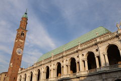 Vicenza Italy Main Square Called Piazza dei Signori and the bell Royalty Free Stock Photo