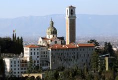 Vicenza, Italy, Monte Berico basilica dedicated to our Lady Royalty Free Stock Images