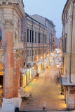 Vicenza, Italy, Night scene with Christmas lights with a very lo Stock Photography