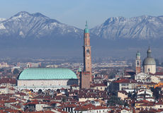 Vicenza, Italy, panorama with Basilica Palladiana Royalty Free Stock Image