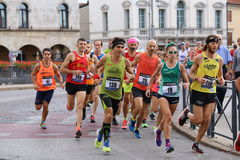 Vicenza, Italy, 20 September 2015. Marathon runners Royalty Free Stock Images