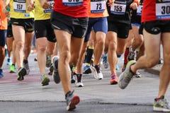 Vicenza, Italy, 20 September 2015. Marathon runners Stock Photos