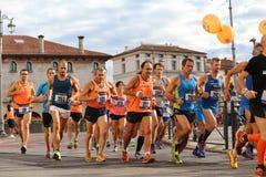 Vicenza, Italy, 20 September 2015. Marathon runners Royalty Free Stock Photography