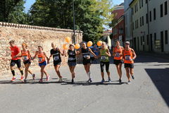 Vicenza, Italy, 20 September 2015. Marathon runners Stock Images