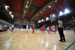 Vicenza, Italy. 04th October , 2015. Basketball match between Vi Stock Image