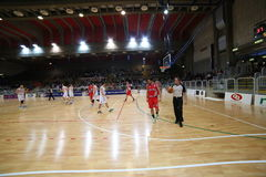 Vicenza, Italy. 04th October , 2015. Basketball match between Vi Royalty Free Stock Photography