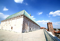 Vicenza, medieval tower called Tower of torment and basilica pal Royalty Free Stock Image
