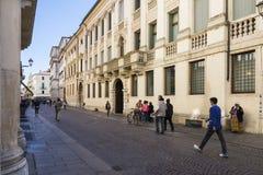 Vicenza Palladio gata Royaltyfria Bilder