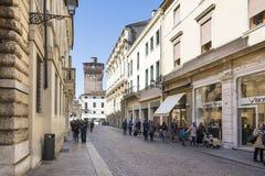 Vicenza Palladio gata Arkivbild