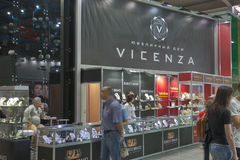 Vicenza ( Roberto Bravo) Jewelry Company booth Royalty Free Stock Images