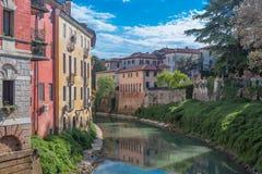 Vicenza rzeką Obrazy Royalty Free