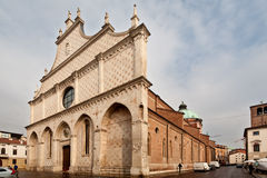 Vicenza's Cathedral. The duomo's church downtown in Vicenza Royalty Free Stock Photography