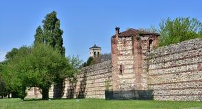 Vicenza Scaliger Walls imagens de stock