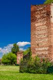 Vicenza Scaliger Walls. One of the last surviving sections of the Vicenza medieval walls, erected in the 14th century royalty free stock photo