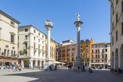 Vicenza stadfyrkant Arkivfoto