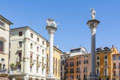 Vicenza stadfyrkant Royaltyfri Fotografi