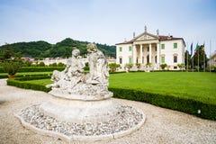 Vicenza Veneto, Italien - villa Cordellina Lombardi som byggs i 18t Arkivfoto