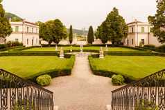 Vicenza, Veneto, Italy - Villa Cordellina Lombardi, built in 18th century. Vicenza, Italy - May 13, 2015: Park of Villa Cordellina Lombardi, built in 18th stock photos