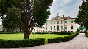 Vicenza, Veneto, Italy - Villa Cordellina Lombardi, built in 18th century. Montecchio MaggioreVicenza, Veneto, Italy - Villa Cordellina Lombardi, built in 18th royalty free stock photos