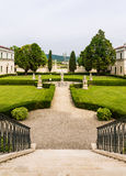 Vicenza, Veneto, Italy - Villa Cordellina Lombardi, built in 18th century. Park of Villa Cordellina Lombardi, built in 18th century stock photo
