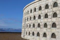 Vicenza, VI, Itália - 8 de dezembro de 2015: Memorial de guerra da primeira guerra fotografia de stock